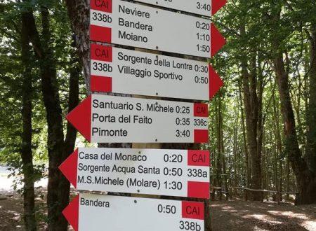 Nuova segnaletica sul monte Faito